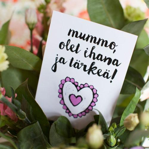 Kultamurunen mummo kortti