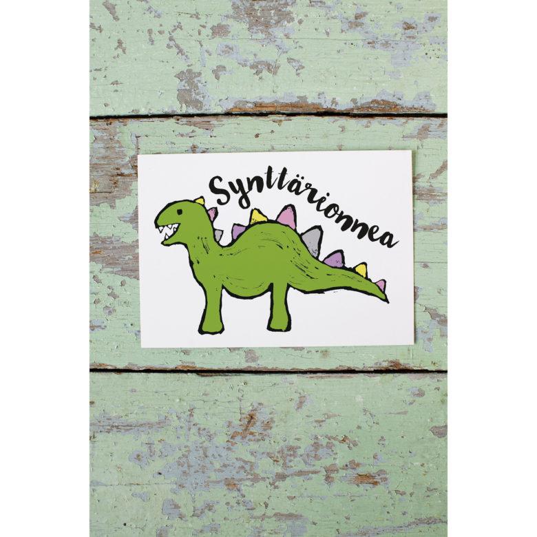 Kultamurunen dinosauruskortti