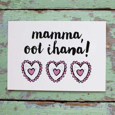 Kultamurunen mamma-kortti