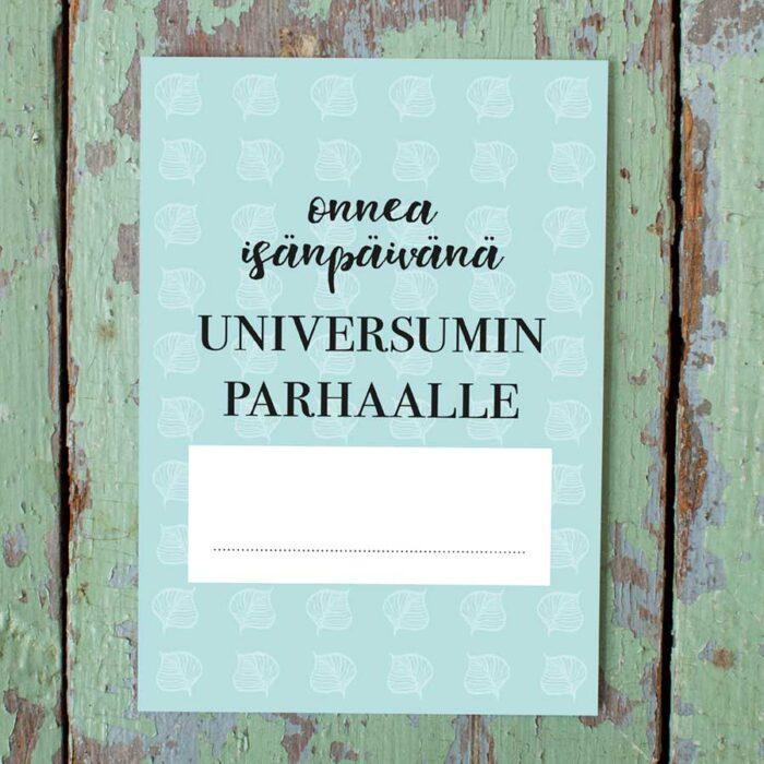 Kultamurunen isänpäiväkortti