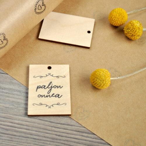 kultamurunen paljon onnea pakettikortti